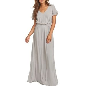 NWT Show Me Your Mumu Michelle Grey Maxi S